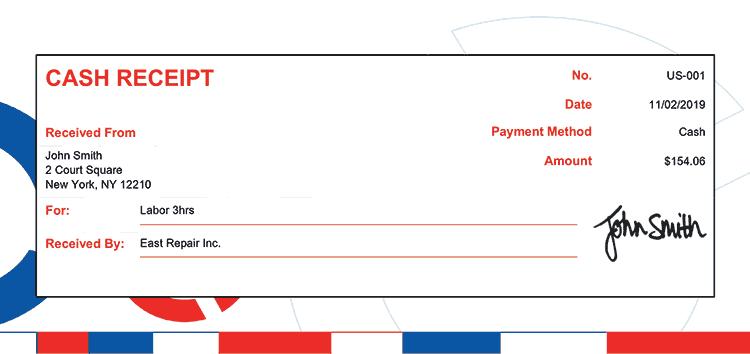 Cash Receipt Template Us Connect Rbw Receipt