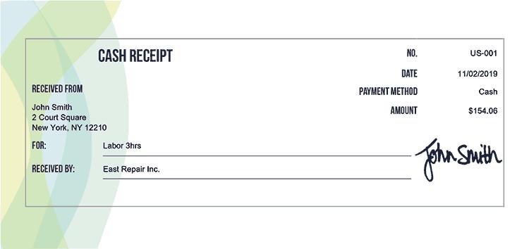 Cash Receipt Template Us Dexter Receipt