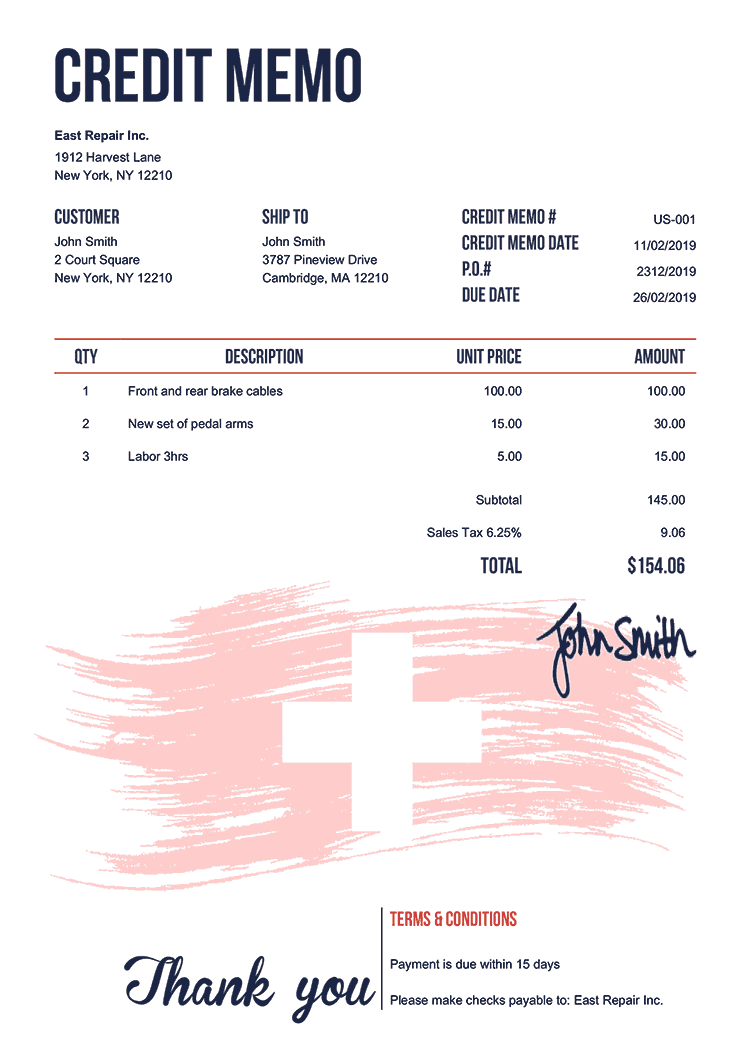 Credit Memo Template Us Flag Of Switzerland