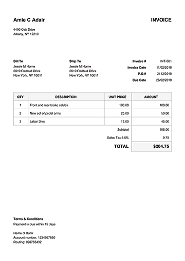 100 Free Invoice Templates Print Email As Pdf Fast Secure