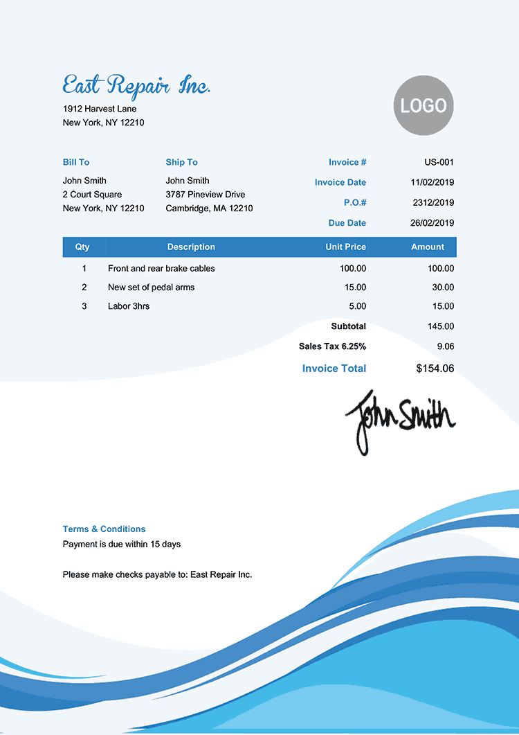 Free Blank Invoice Pdf 100 Templates To Print Email