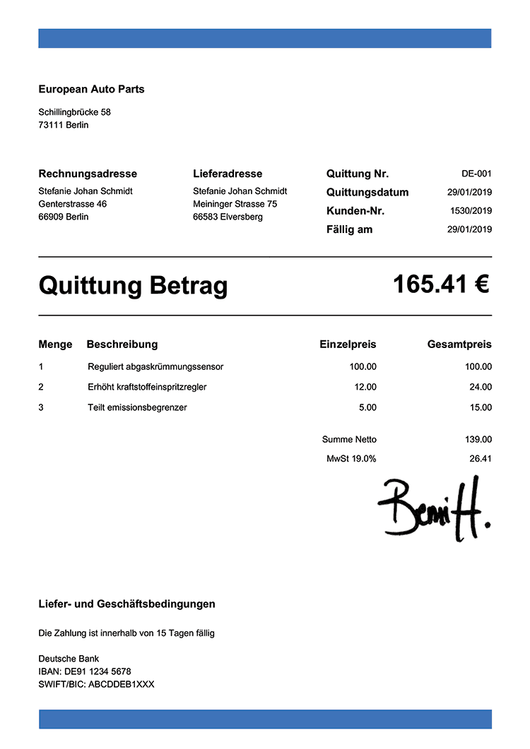 Quittung Vorlage Schweiz Kostenloser Download Vorla Ch 9