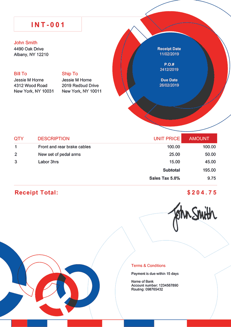 Receipt Template En Connect Rbw
